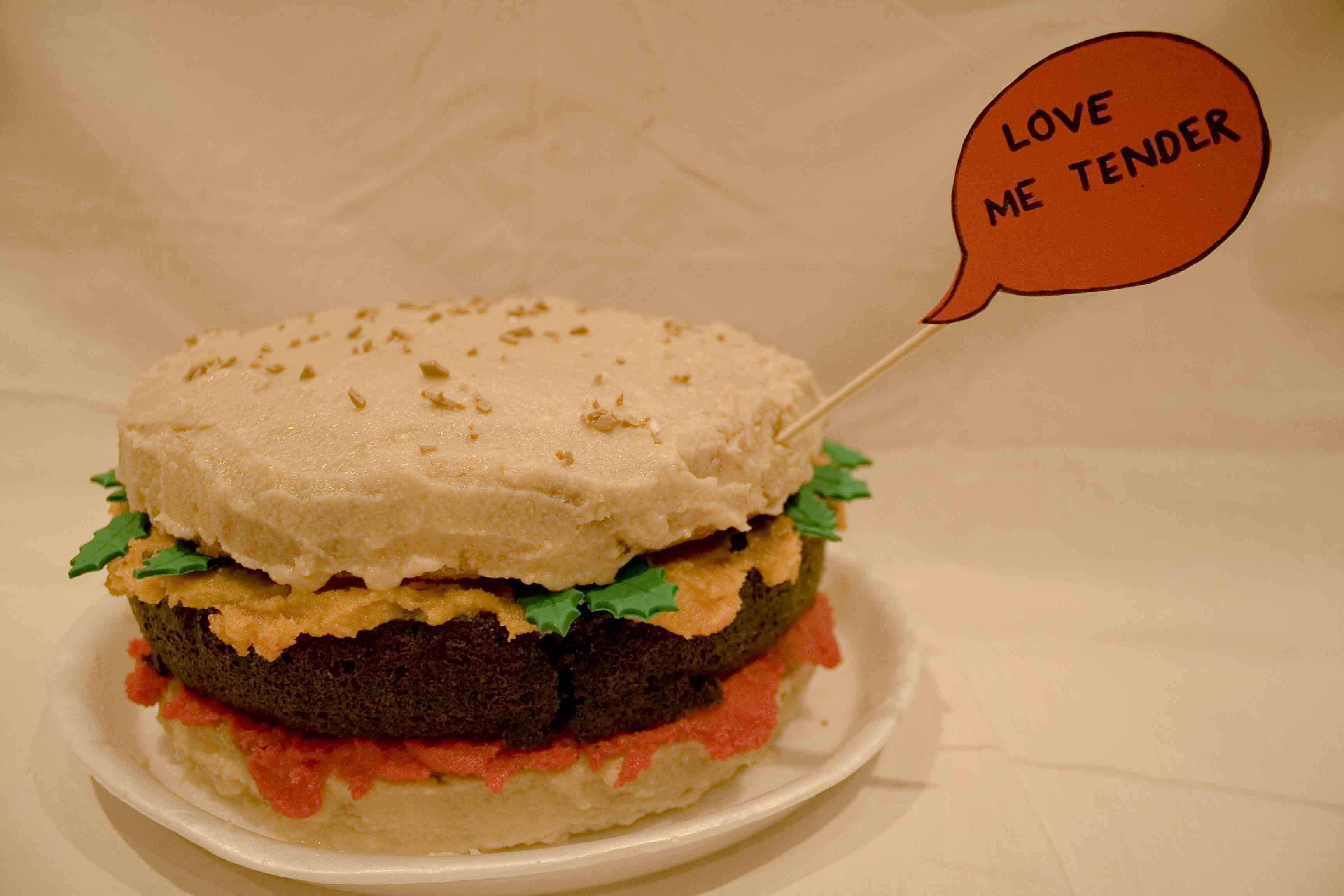 how to make a burger birthday cake