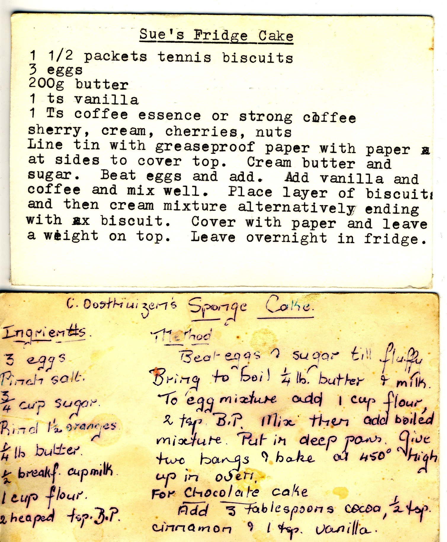 Old fashioned cooking recipe 56