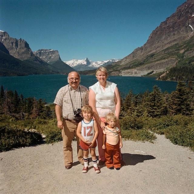 Family-at-Glacier-National-Park-MT-1981