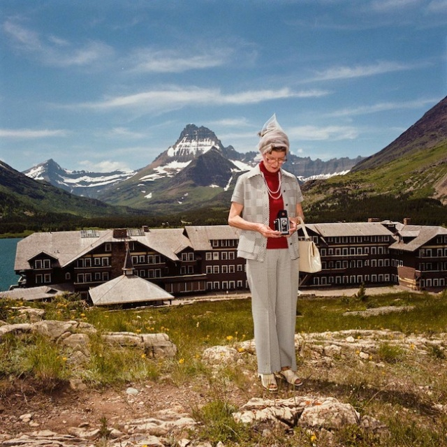 Woman-photographing-at-Many-Glacier-Hotel-Glacier-National-Park-MT-1981