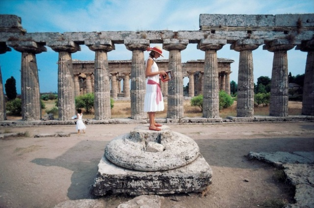 3 aarons laura-hawk-amid-the-ancient-greek-ruins-of-paestum-on-the-gulf-of-salerno 1984