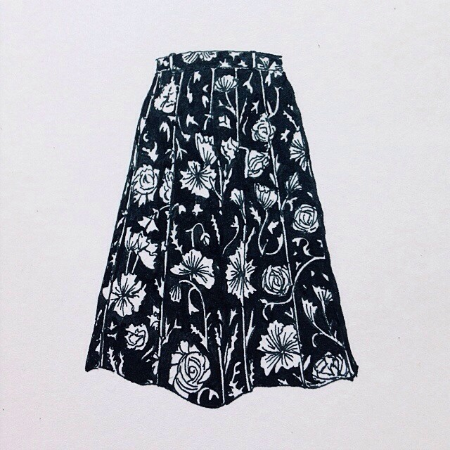 floral skirt_wolfeyebrows