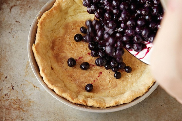 rose levy beranbaum blueberry pie1