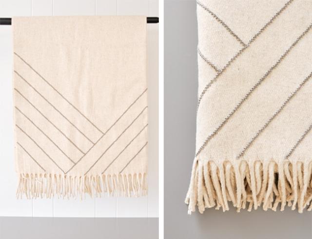 stella lines gray blanket